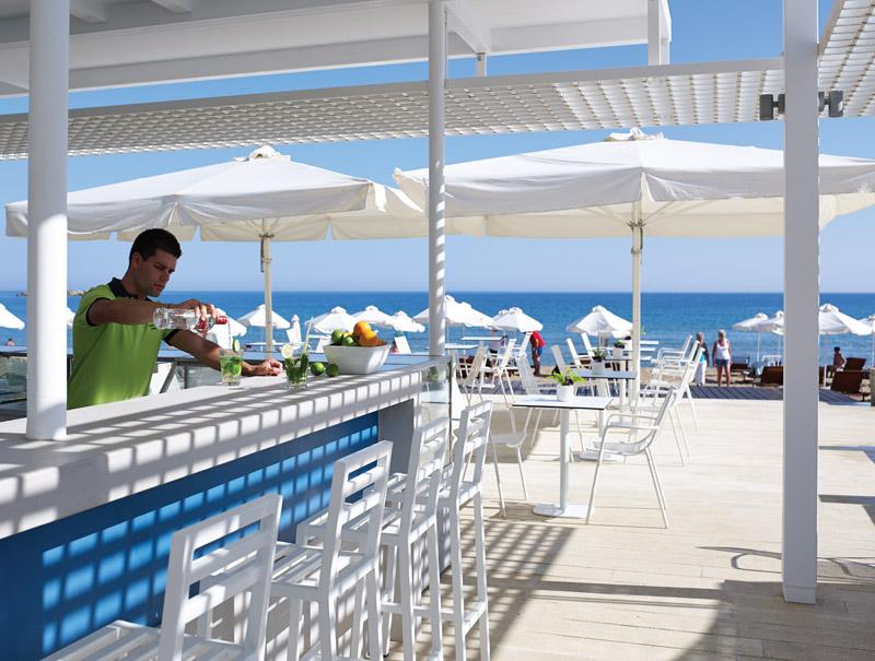 Kalliston 5 star hotel in Crete Greece pool bar on a luxury yoga retreat