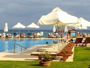 Pool at the Luxury Kalliston Atlantic Hotel in Crete, Greece