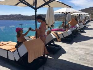 poolside myconian imperial hotel yoga retreat mykonos