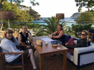 Pre-dinner in Menorca, Spain.
