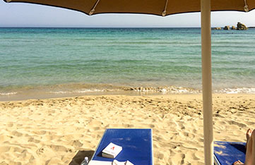 day trip to san lorenzo beach in sicily on a yoga retreat in italy with Yoga Escapes