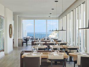 restaurant at the melia cala galdana hotel menorca spain yoga retreat