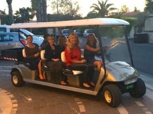 Riding around Sicily in a minivan.