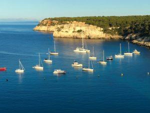 sail boats in menorca spain on a luxury yoga retreat