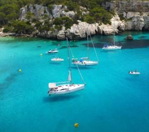 Sailing in Menorca, Spain