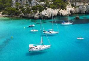 Sailing in the Menorca sea