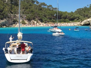 Saling in Menorca Spain