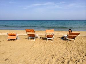 San Lorenzo beach on a Sicily yoga retreat.