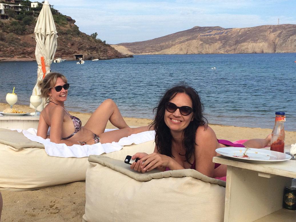 Sandra and Bev on a Yoga Retreat