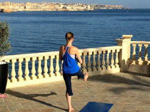sarah scott yoga teacher in italy with yoga escapes