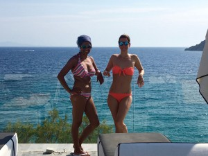 Seaview From Our Pool Yoga Retreat Mykonos