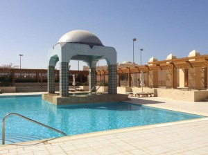 Spa pool at the5* Kempinski hotel on a yoga retreat in Egypt.