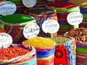 Spice market at the yoga escape in Egypt.