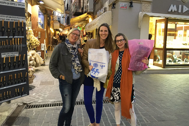 Strolling in Chania town on Yoga Escapes retreat