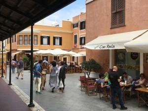 Strolling in Cuitadella, Menorca.
