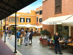 strolling around ciutadella town in menorca spain with yoga escapes