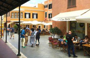 strolling in ciutadella menorca spain with yoga escapes