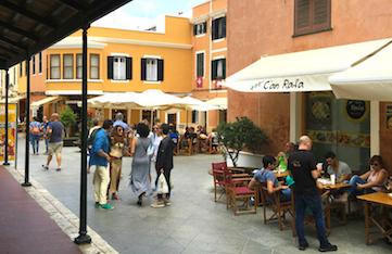 strolling in ciutadella town in menorca spain