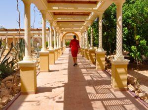strolling in egypt on a yoga retreat