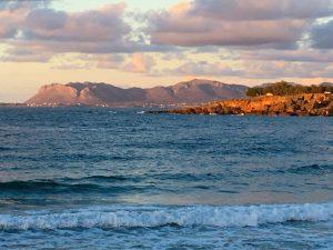 sunset in crete