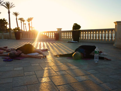 Sunset yoga in Sicily Yoga Escapes