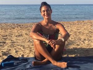 Tania Brown, yoga teacher.