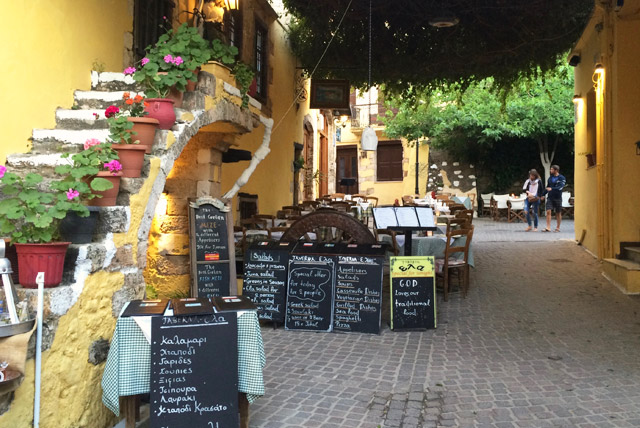 tavern in crete on yoga retreat
