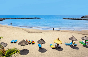 Tenerife beach in the Canary Islands on a yoga retreat.