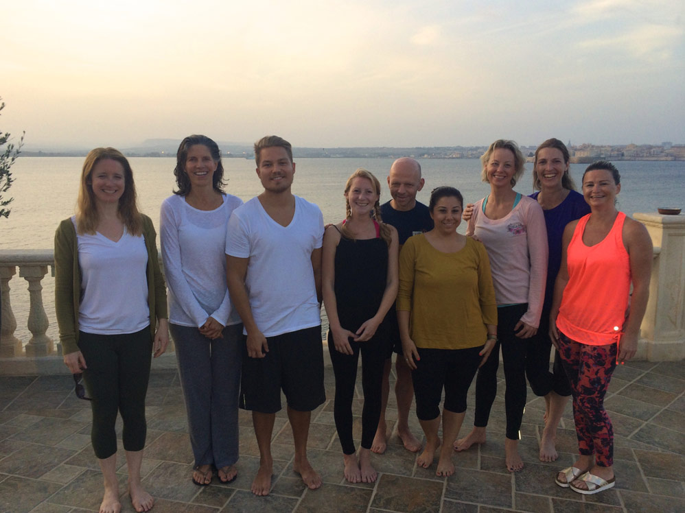 The Yoga Escapes team wind down in Sicily