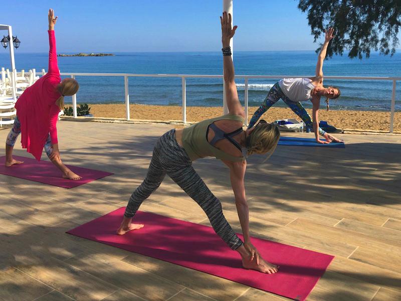 vinyasa flow class crete yoga retreat