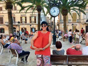 walking around ciutadella menorca on a yoga holiday
