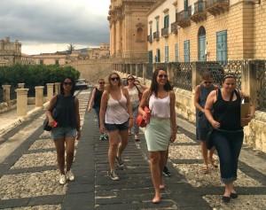 Walking around Noto, Sicily.