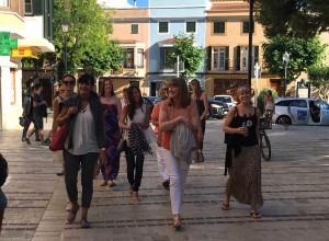 Walking in Cuitadella, Menorca.