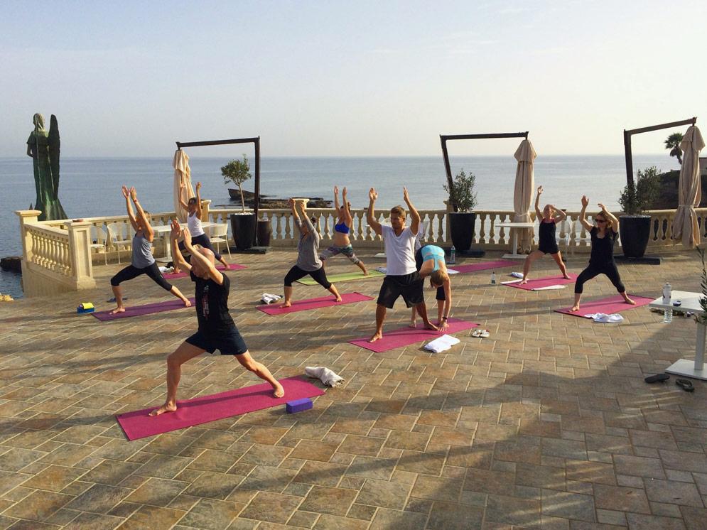 Warrior 1 yoga Sicily