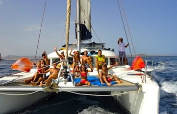 Sailing in Tenerife in the Canary Islands.