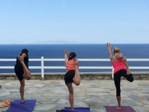 Yoga Balances Mykonos Greece