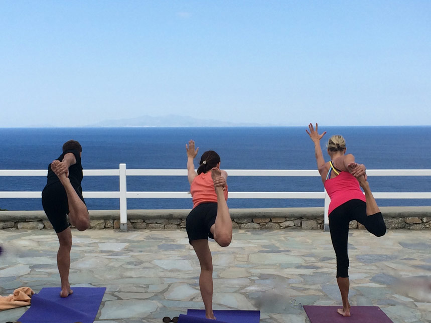 Yoga balances Mykonos