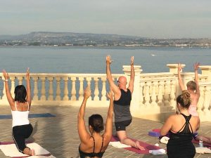 yoga by the sea in italy