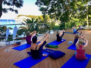yoga classes by the sea in spain with yoga escapes