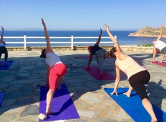 Yoga class in Mykonos Yoga Escapes