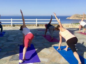 Yoga Classes on a Yoga Escape in Mykonos