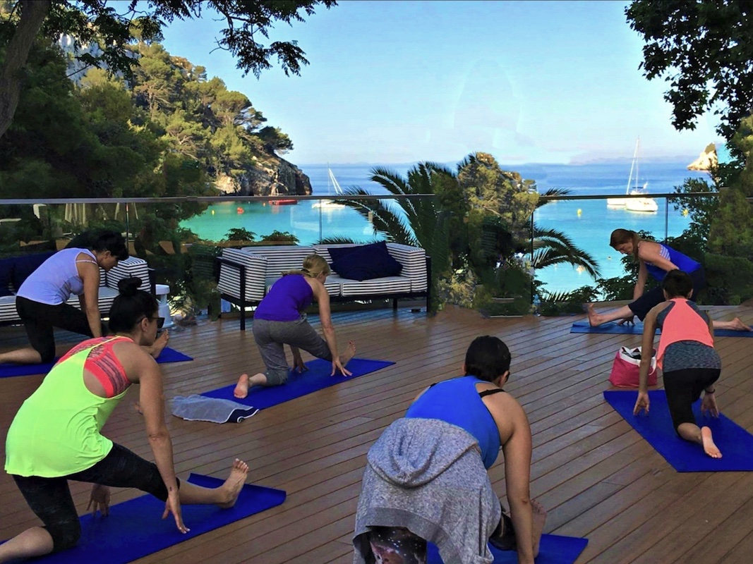 yoga class in spain with yoga escapes