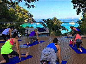vinyasa yoga class in spain with yoga escapes