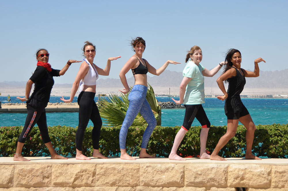 yoga escape in egypt group shot