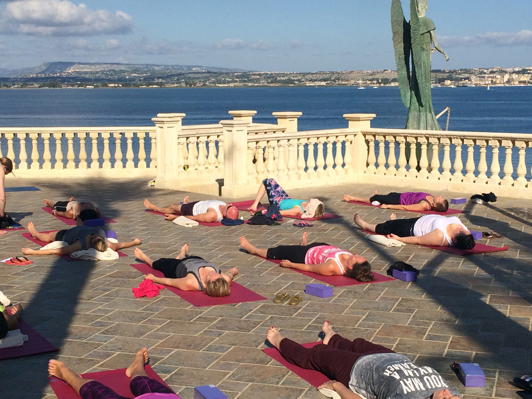 Yoga Escapes guests relaxing during session