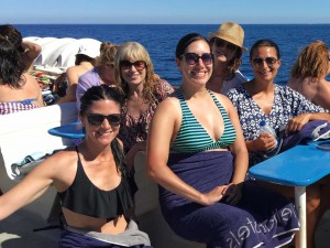Boat trip with the yoga group in Spain.
