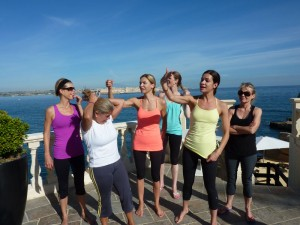The yoga group at the Italy yoga retreat.
