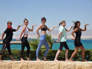 Yoga like an Egyptian.