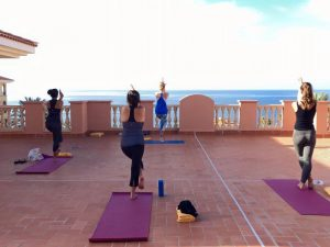Vinyasa Yoga class in the Canary Islands with Yoga Escapes