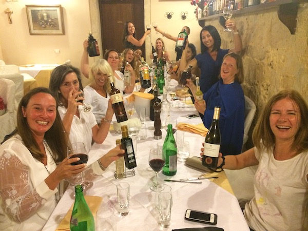 Delicious dinners in Sicily on a luxury yoga retreat in Italy with Yoga Escapes.